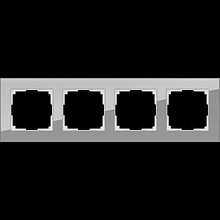 Рамка на 4 поста (серый,стекло) WL01-Frame-04