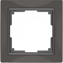 Рамка на 1 пост (серо-коричневый, basic) WL03-Frame-01