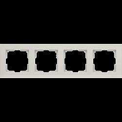 Рамка на 4 поста (слоновая кость) WL04-Frame-04-ivory