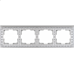 Рамка на 4 поста (жемчужный) WL07-Frame-04