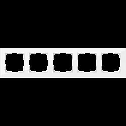 Рамка на 5 постов (белый матовый) WL01-Frame-05