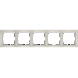 Рамка на 5 постов (слоновая кость, basic) WL03-Frame-05