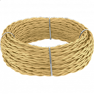 Ретро кабель витой 2х2,5 (золотой песок) Ретро кабель витой 2х2,5 (золотой песок)