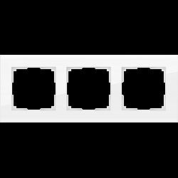 Рамка на 3 поста (белый,стекло) WL01-Frame-03