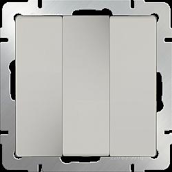 Выключатель трехклавишный (слоновая кость) WL03-SW-3G-ivory