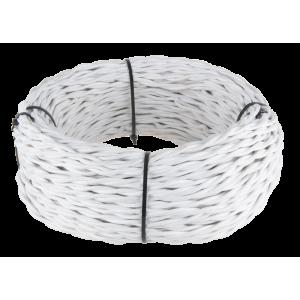 Ретро кабель витой 3х2,5 (белый) Ретро кабель витой 3х2,5 (белый)