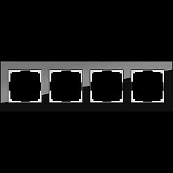 Рамка на 4 поста (черный) WL01-Frame-04