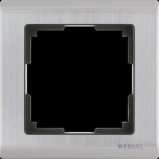 Рамка на 1 пост (глянцевый никель) WL02-Frame-01