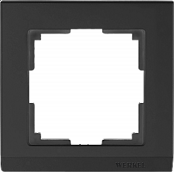 Рамка на 1 пост (черный) WL04-Frame-01-black