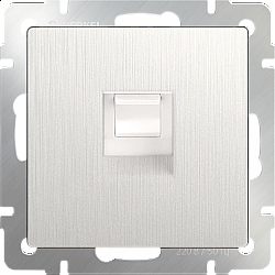 Телефонная розетка RJ-11 (перламутровый рифленый) WL13-RJ-11