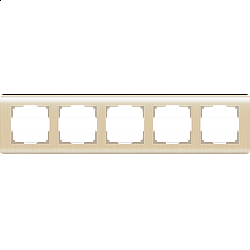Рамка на 5 постов (шампань) WL12-Frame-05
