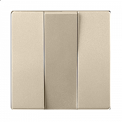 Набор клавиш для выключателя трехклавишного (шампань) WL11-SW-3G-CP