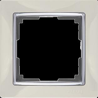 Рамка на 1 пост (слоновая кость) WL03-Frame-01-ivory