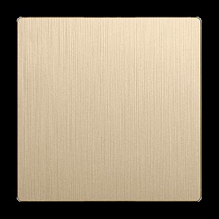 Клавиша для выключателя перекрестного (шампань рифленый) WL10-SW-1G-C-CP