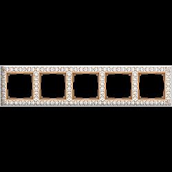 Рамка на 5 постов (белое золото) WL07-Frame-05