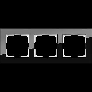 Рамка на 3 поста (черный) WL01-Frame-03