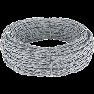 Ретро кабель витой 3х1,5 (серый) Ретро кабель витой 3х1,5 (серый)