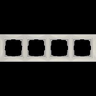 Рамка на 4 поста (слоновая кость, basic) WL03-Frame-04