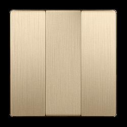 Набор клавиш для выключателя трехклавишного (шампань рифленый) WL10-SW-3G-CP