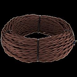 Ретро кабель витой 2х2,5 (коричневый) Ретро кабель витой 2х2,5 (коричневый)