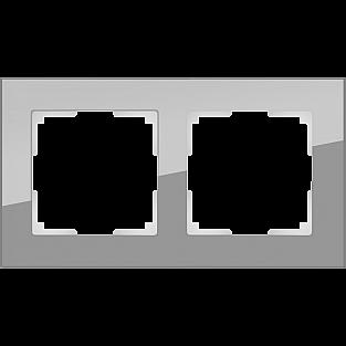 Рамка на 2 поста (серый,стекло) WL01-Frame-02