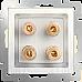 Акустическая розетка (перламутровый рифленый) WL13-AUDIOx4