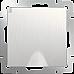 Розетка влагозащ. с зазем. с защит. крышкой и шторками (перламутровый рифленый) WL13-SKGSC-01-IP44