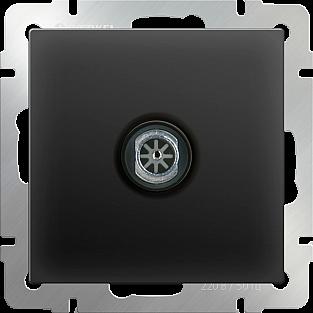 ТВ-розетка оконечная (черный матовый) WL08-TV