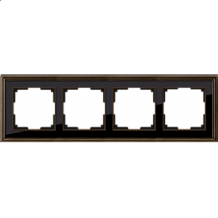 Рамка на 4 поста (бронза/черный) WL17-Frame-04