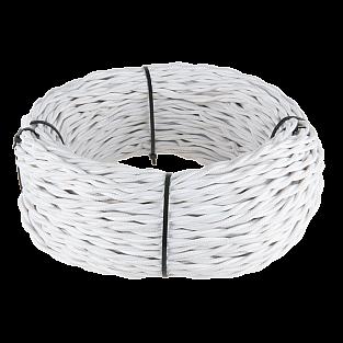 Ретро кабель витой 2х1,5 (белый) Ретро кабель витой 2х1,5 (белый)