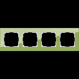 Рамка на 4 поста (фисташковый) WL01-Frame-04