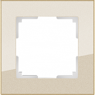 Рамка на 1 пост (шампань) WL01-Frame-01