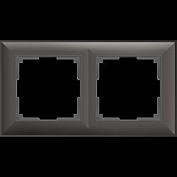 Рамка на 2 поста (серо-коричневый) WL14-Frame-02