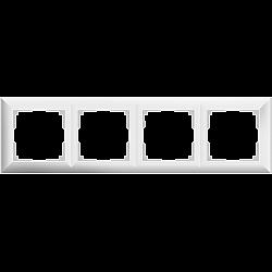 Рамка на 4 поста (белый) WL14-Frame-04