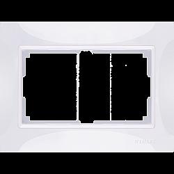 Рамка для двойной розетки (белый, basic) WL03-Frame-01-DBL-white