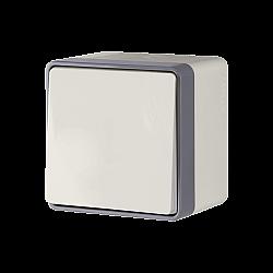 Выключатель одноклавишный влагозащищенный Gallant (слоновая кость) WL15-01-02