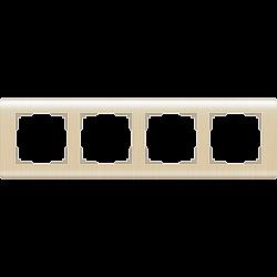 Рамка на 4 поста (шампань) WL12-Frame-04