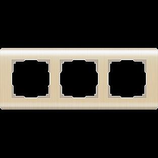 Рамка на 3 поста (шампань) WL12-Frame-03