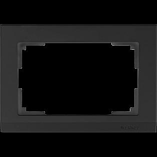 Рамка для двойной розетки (черный) WL04-Frame-01-DBL-black