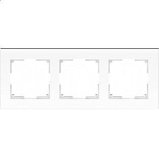 Рамка на 3 поста (белый матовый) WL01-Frame-03