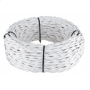 Ретро кабель витой 3х1,5 (белый) Ретро кабель витой 3х1,5 (белый)