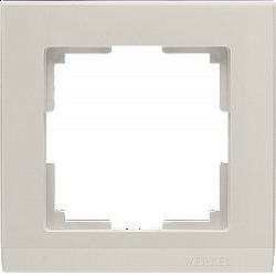 Рамка на 1 пост (слоновая кость) WL04-Frame-01-ivory