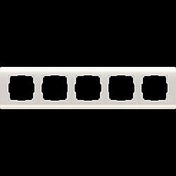 Рамка на 5 постов (перламутровый) WL12-Frame-05