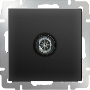 ТВ-розетка проходная (черный матовый) WL08-TV-2W