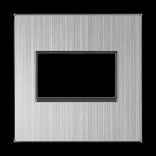 Накладка для двойной розетки Еthernet RJ-45 (глянцевый никель) WL02-RJ45+RJ45-CP