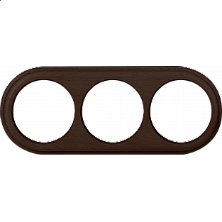 Рамка на 3 поста (венге) WL15-frame-03