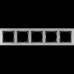 Рамка на 5 постов (глянцевый никель) WL02-Frame-05