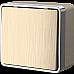 Выключатель одноклавишный Gallant (шампань рифленый) WL15-01-01