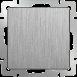 Выключатель одноклавишный проходной (cеребряный рифленый) WL09-SW-1G-2W