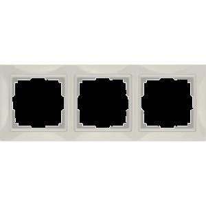 Рамка на 3 поста (слоновая кость, basic) WL03-Frame-03